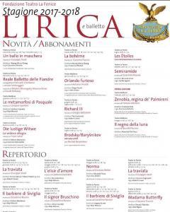 """Teatro """"La Fenice"""" di Venezia - Stagione Lirica e Balletto 2017-2018"""