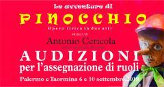 """Audizione per assegnazione ruoli Opera """"pinocchio"""" di Antonio Cericola"""