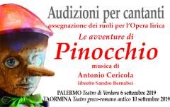 """Audizioni per assegnazione ruoli opera lirica """"Pinocchio"""" di Antonio Cericola"""