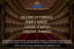 Audizioni per Cantanti Lirici - Sicilia Classica Festival 2020