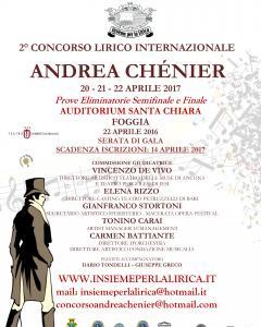 "2° Concorso Lirico Internazionale ""Andrea Chénier"""