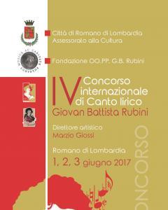 IV Concorso internazionale di Canto lirico Giovan Battista Rubini