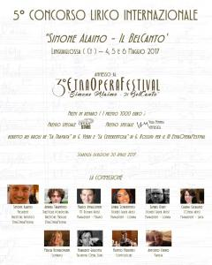 """5° Concorso Lirico Internazionale Simone Alaimo - """"Il BelCanto"""""""