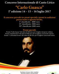 """Concorso Internazionale di Canto Lirico """"Carlo Guasco"""""""