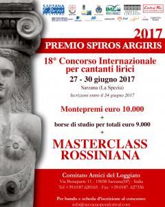 """18° Concorso Internazionale per giovani cantanti lirici """"Premio Spiros Argiris"""""""