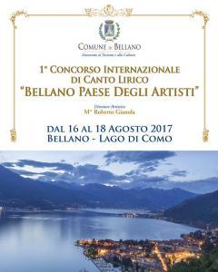 """1° Concorso Internazionale di Canto Lirico """"Bellano Paese Degli Artisti"""""""