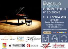 """6° Concorso Internazionale di Canto Lirico """"Marcello Giordani"""""""