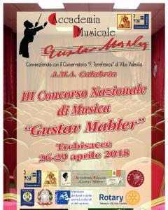 """III Concorso Nazionale di Musica """"Gustav Mahler"""""""