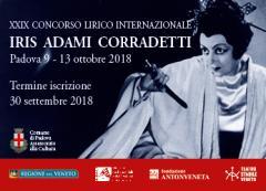"""Concorso Lirico Internazionale """"Iris Adami Corradetti"""", XXIX edizione, anno 2018"""