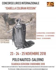 """Concorso Lirico Internazionale """" Isabella Colbran Rossini"""""""