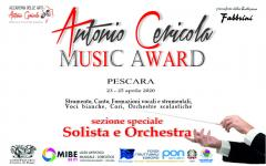 Antonio Cericola Music Award Pescara 2020