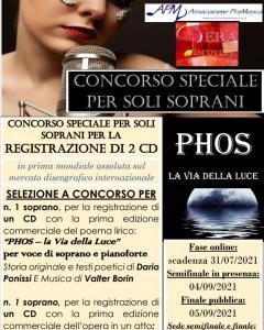 """Concorso speciale per soli soprani """"Phos-Stellina 2021"""""""