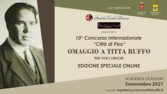 """Concorso Internazionale """"Città di Pisa"""" - omaggio a Titta Ruffo"""