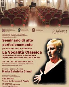 Seminario di alto perfezionamento per cantanti lirici e pianisti