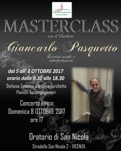 Masterclass con il Baritono Giancarlo Pasquetto