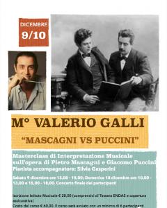 """Masterclass M° Valerio Galli """"Mascagni Vs Puccini"""""""