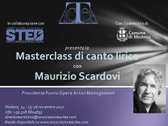 Masterclass di canto lirico con l'agente Maurizio Scardovi, presidente di Punto Opera Artist Management
