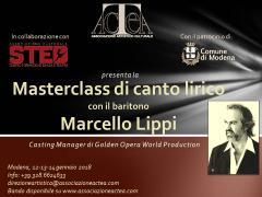 Masterclass di canto lirico con il Casting Manager di GOWP, il baritono Marcello Lippi