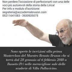 Masterclass con il M° Renato Bruson