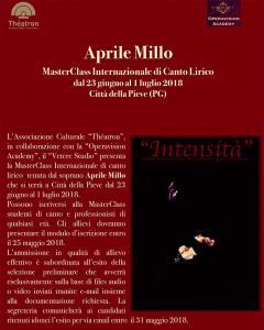 """""""Intensità"""" MasterClass di Aprile Millo"""