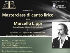 Masterclass di canto lirico con il baritono Marcello Lippi e audizione con l'agenzia DM Artist Management