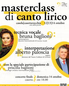 Masterclass di Canto Lirico con Bruna Baglioni ed Alberto Paloscia