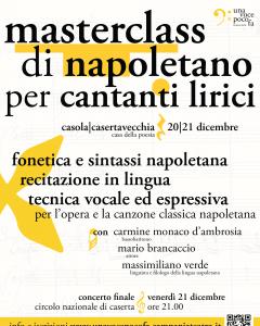 Masterclass di Napoletano per Cantanti Lirici