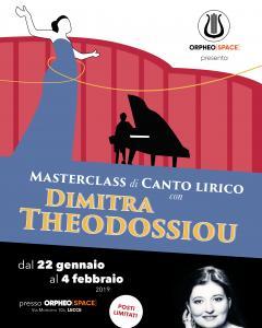 MASTERCLASS di CANTO LIRICO  con  DIMITRA THEODOSSIOU