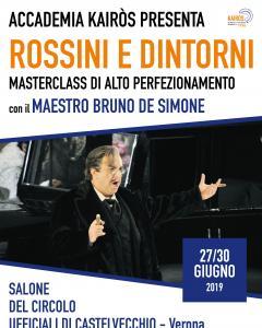 """""""ROSSINI E DINTORNI"""" Masterclass di Alto Perfezionamento con il M° Bruno de Simone"""