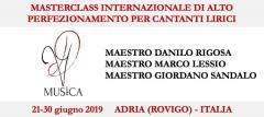 Masterclass Internazionale di Alto Perfezionamento per Cantanti Lirici