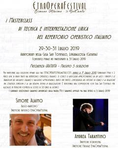 """""""Masterclass di tecnica e interpretazione del repertorio lirico italiano"""""""