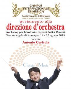 Avviamento alla direzione d'orchestra per bambini e ragazzi da 8 a 18 anni