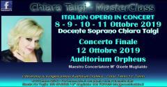 CHIARA TAIGI – MASTERCLASS - Italian Opera in Concert Workshop - 8-12 Ottobre 2019 - TORINO - Auditorium Orpheus