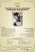 """I° Concorso Lirico Internazionale """"Adriana Maliponte"""""""