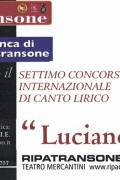 """VII Concorso Internazionale di Canto Lirico """"Luciano Neroni"""""""