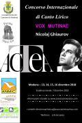 """Concorso Internazionale di Canto Lirico VOX MUTINAE """"Nicolaj Ghiaurov"""""""